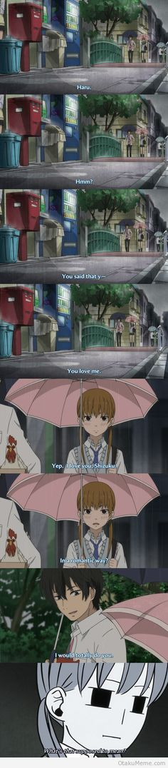 Puhahaha!! Haruuuuu!!! N he says it so adorably! I love him! Sigh, I really miss Tonari no kaibutsu-kun