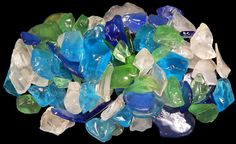 4 Lbs (6 Cups) Light Color Replica Beach Glass Mix for Mosaics / Crafting
