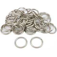50 Steel Split Rings Key Chain Connector Parts Earring Backs, Sewing Stores, Key Chain, 50th, Sewing Crafts, Steel, Detail, Bracelets, Earrings