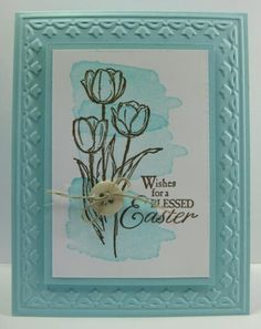 Watercolor Tulips Card