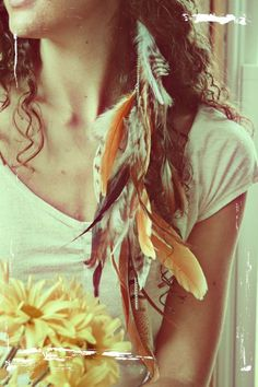 maybe not so many feathers but totally want this!!! Desert Child Feather extension by EchoingWaters on Etsy. $30.00 USD, via Etsy.