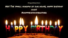 Elder Brother Birthday Wishes, Meaningful Birthday Wishes, Happy Birthday Brother Wishes, Birthday Message For Brother, Happy Birthday Cake Images, Birthday Wishes Funny, Birthday Messages, Birthday Quotes, Cake Pics