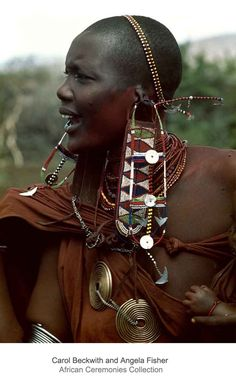 Africa   Married Maasai woman at the Eunoto ceremony.   ©Carol Beckwith and Angela Fisher