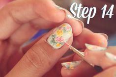 Handpainted Vintage Floral Nail Art Tutorial