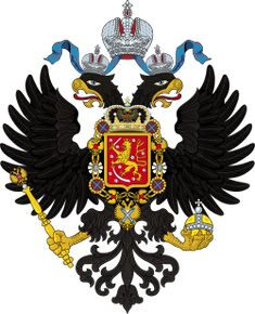 Coat of Arms of Grand Duchy of Finland Helsinki, Imperial Eagle, Fandom, Soviet Union, Roman Empire, Coat Of Arms, Hetalia, Eagles, Rooster