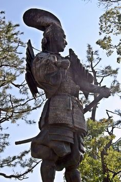 Statue of Oda Nobunaga at Kiyosu Castle in Aichi prefecture #Samurai
