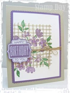 Stamp Day Designs, Painted Petals Gingham (1)