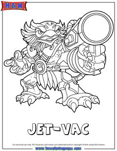 fancy_header3]like this cute coloring book page? check out these ... - Skylanders Coloring Pages Jet Vac