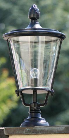 Pedestral Garden Light Elba 43 *Sockelleuchte mit Glasmantellaterne Elba 43, großes Modell