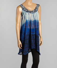 Look at this Blue Yoke Tank on #zulily today!