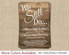 Rustic backyard signature white vow renewal invitations