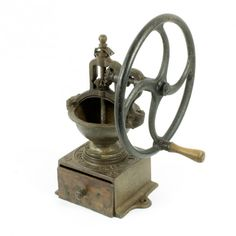 la Bodega Antiques. Antique Coffee Grinder French PEUGEOT FRERES A1 Cast Ironmodel A1 Single wheel