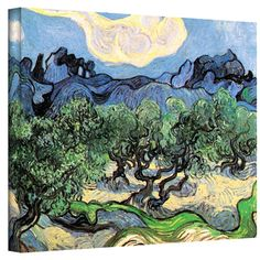 VanGogh 'Olive Trees' Wrapped Canvas Art | Overstock.com