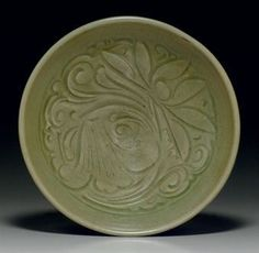 A Yaozhou celadon carved bowl. Northern Song dynasty, 11th-12th century.