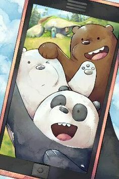 Pardo,panda y polar ❤ We Bare Bears Wallpapers, Panda Wallpapers, Cute Cartoon Wallpapers, Ice Bear We Bare Bears, We Bear, Bear Wallpaper, Kawaii Wallpaper, Disney Phone Wallpaper, Wallpaper Iphone Cute