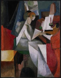 'Woman at the Piano', 1914 - Albert Gleizes