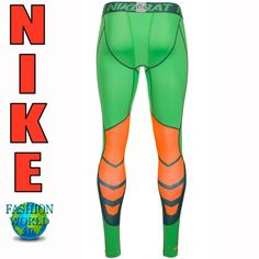 size 40 34dde 858eb Nike Pro Combat Hypercool 3.0 Compression Tights 636157-361 SIZE Large  Green  Nike
