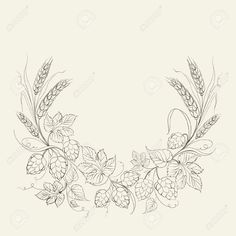 - Millions of Creative Stock Photos, Vectors, Videos and Music Files For Your Inspiration and Projects. Farm Tattoo, Hop Tattoo, Vine Tattoos, Sleeve Tattoos, Wheat Tattoo, Hops Vine, Hops Plant, Beer Art, Typography Love