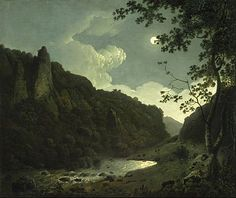Dovedale by Moonlight is an oil painting on canvas completed by Joseph Wright of Derby in 1785. One of five paintings by the artist that uses the picturesque valley of Dovedale as its subject