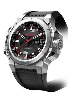 Snyper TWO - Steel by Snyper Watches. Extremely robust automatic chronograph.