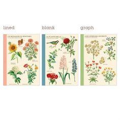 Jardin Botanique Writer's Notebooks, Set of 3