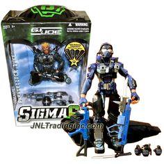 "Hasbro G.I. JOE Sigma 6 Series 8"" Tall Figure - PARATROOPER DUKE with Helmet, Assault Rifles, Pistols, Battle Knife, Hatchet & Real Working Parachute"