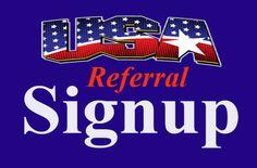 Referral USA signups. #leadgeneration