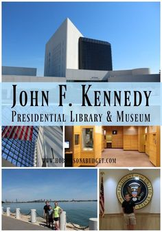 What do you know about President John F Kennedy? Many people only know about JFK's assignation and not much else. But while we were touring the John F Kennedy Library and Museum in Boston, Massachusetts, we learned more about his early life. Boston Vacation, Boston Travel, Boston Museums, Literary Travel, Presidential Libraries, Public Libraries, Us Road Trip, Boston Massachusetts, Sturbridge Massachusetts