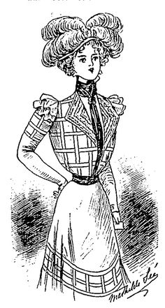 Charvet dress (1898) with shirtwaist and chemisette. - 1890s in Western fashion - Wikipedia, the free encyclopedia