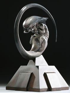 H. R. Giger Bambi Alien sculpture.