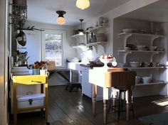 Simple farmhouse kitchen.