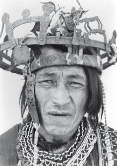 Reindeer shaman's iron crown worn by the son of the shaman, Kellog Village 1976 I've found this photo in a fascinating article on Ket ...
