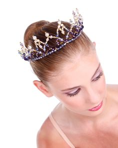 Crystal Tiaras & Crowns Buy Dance tiaras, Swarovski crystal beaded headpieces for ballet dancers