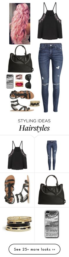 """""""i love this hair color!"""" by littleblackdress14 on Polyvore featuring H&M, Aéropostale, Prada, Chanel and GUESS"""