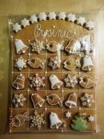 Adventní kalendář Christmas Baking Gifts, Christmas Cookies Gift, Christmas Biscuits, Christmas Gingerbread House, Christmas Cooking, Christmas Treats, Christmas Time, Elf Christmas Decorations, Cookie Gifts