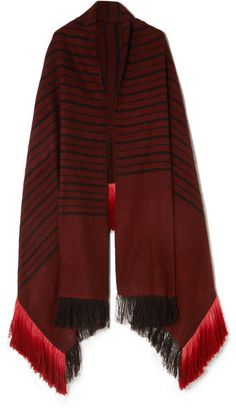 fe088a4ff0c MELT - Kamal fringed striped herringbone yak and camel-blend wrap