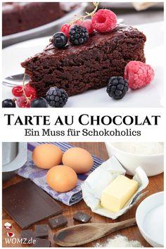 Du suchst ein Schokoladenkuchen Rezept, das einfach und schnell geht und noch dazu gelingsicher ist? Dann ist meine Tarte au Chocolat das Kuchenrezept, das du suchst. Ein schokoladiger Kuchen, der noch dazu saftig ist und mit nur wenigen Zutaten gebacken wird. #schokoladenkuchen #kuchen #rezept