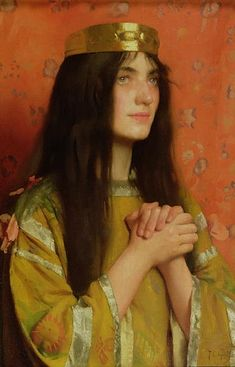 'La Reine Clothilde' 1894 by Thomas Cooper Gotch (British 1854–1931)