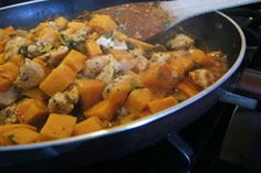 Sweet potato chicken skillet dinner