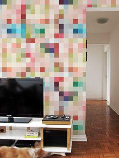 Papel de Parede Adesivo Pixel Colorido | Collector55 - Collector55