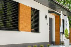 Realizacje - Balker - Producent domów prefabrykowanych. Domy z keramzytu A Frame House Plans, Metal Roof, Decoration, Blinds, Garage Doors, Curtains, Outdoor Decor, Design, Home Decor