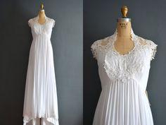 70s wedding dress / 1970s wedding dress / Mia by BreanneFaouzi, $188.00