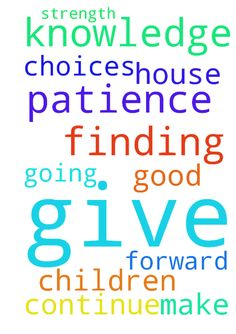 Please lord, give patience  and knowledge in finding - Please lord, give patience  and knowledge in finding a  house for me and my children. Help me make good choices. . Please give me strength to continue going forward.  Posted at: https://prayerrequest.com/t/27G #pray #prayer #request #prayerrequest