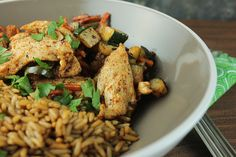 Tender pieces of chicken are combined with spiced vegetables in this easy dish. Perfect for a fast weeknight meal when you don't want takeout.