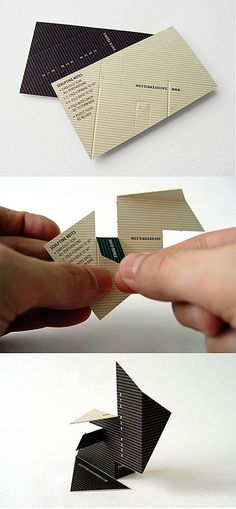 """""""Interactive Sculpture Business Cards"""" Would these work at postcards?"""