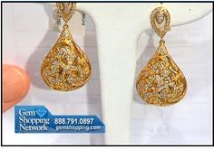 Very cool 18K yellow gold and diamond earrings
