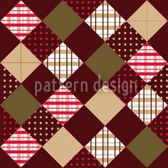 Winterly patchwork pattern with hazelnut background color, designed by Martina Stadler    High-quality Vector Pattern from patterndesigns.com