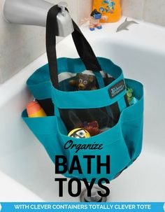 This super cute tote from Clever Container has a mesh bottom, it is perfect for organizing kids bath toys, or even taking with you camping! (scheduled via http://www.tailwindapp.com?utm_source=pinterest&utm_medium=twpin&utm_content=post133451195&utm_campaign=scheduler_attribution)