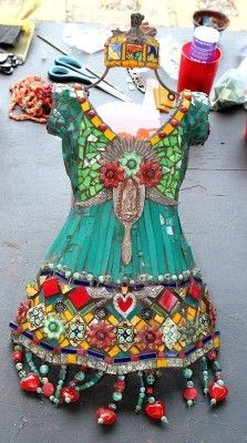 Alter Ego Fashionista's fantastic mosaic dress she made while vacationing in Mexico.