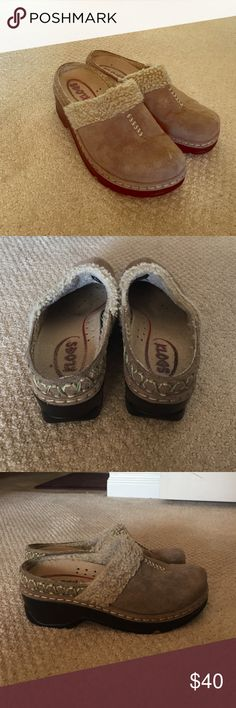 KLOGS - super cute, cozy & comfy! EUC - well loved beige KLOGS. Minor wear, no flaws. They look great with jeans or can be used around the house as slippers but they do have a bit of a heel. KLOGS Shoes